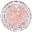 Virág alakú gyöngyházfényes díszek – finom rózsaszín