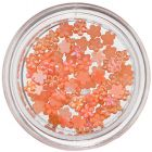 Narancssárga nail art díszek - kis gyöngyházas virágok