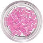 Gyöngyházas téglalapok körmökre – rózsaszín