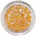 Körömdíszítő háromszögek - sárgás narancssárga, gyöngyházfényes