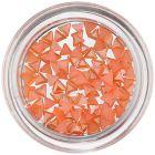 Narancssárga nail art díszek - gyöngyházas háromszögecskék