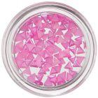 Háromszög alakú gyöngyházfényes díszek – rózsaszín