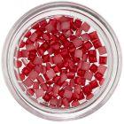 Körömdíszítő négyzetecskék - piros, gyöngyházfényes